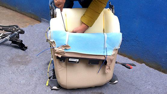 汉兰达改装电动座椅 成都威威车改高清图片